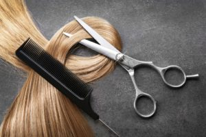 hair, comb and shears